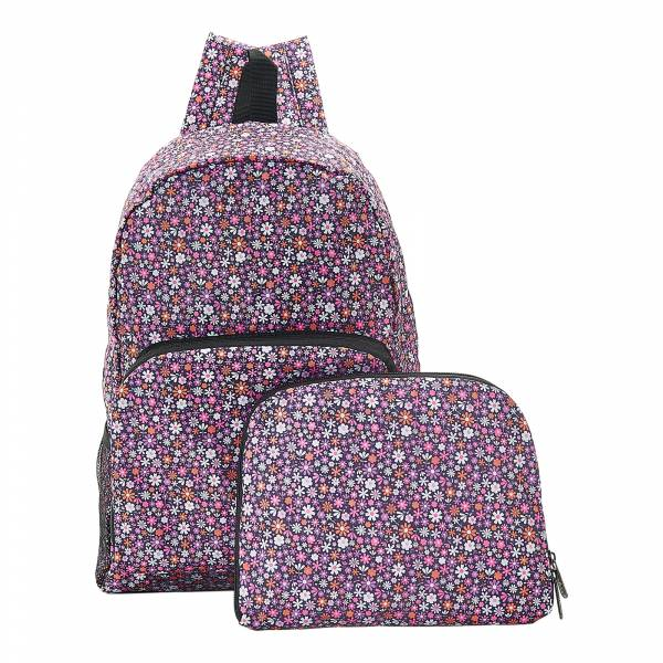 B04 Purple Ditsy Backpack x2