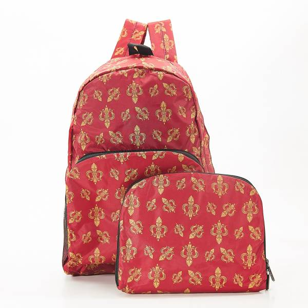 B05 Red Fleur de Lys Backpack x2