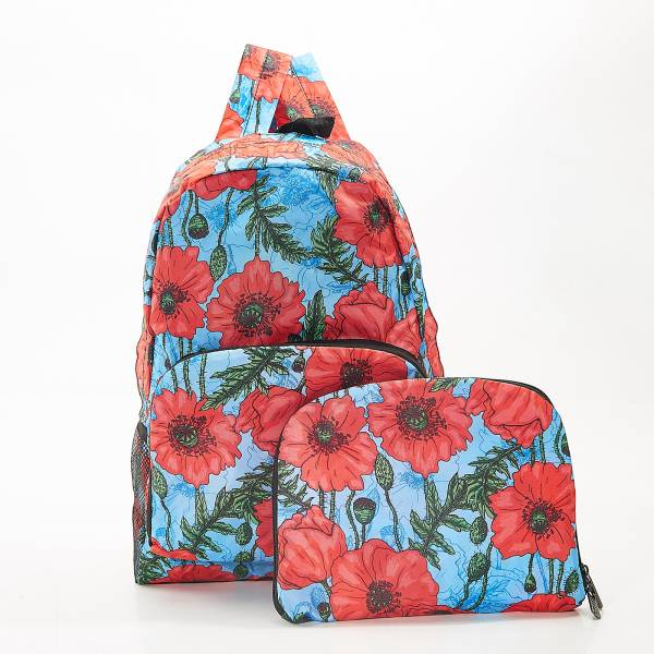 B09 Blue Poppies Backpack x2
