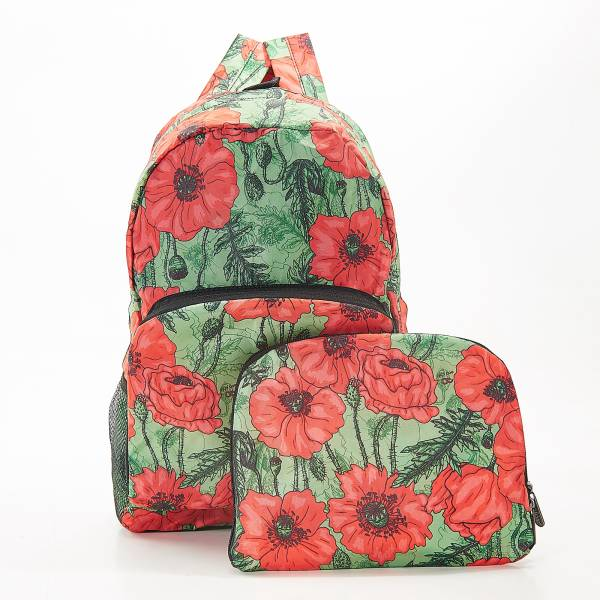 B09 Green Poppies Backpack x2
