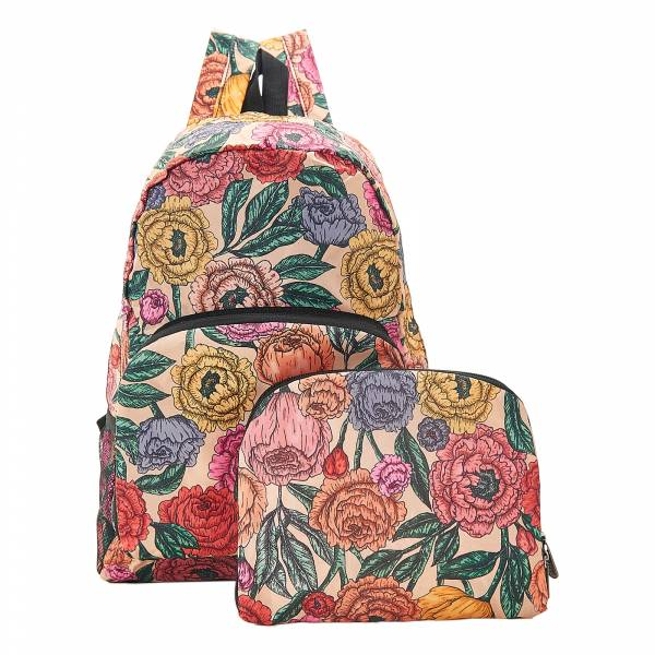 B11 Beige Peonies Backpack x2