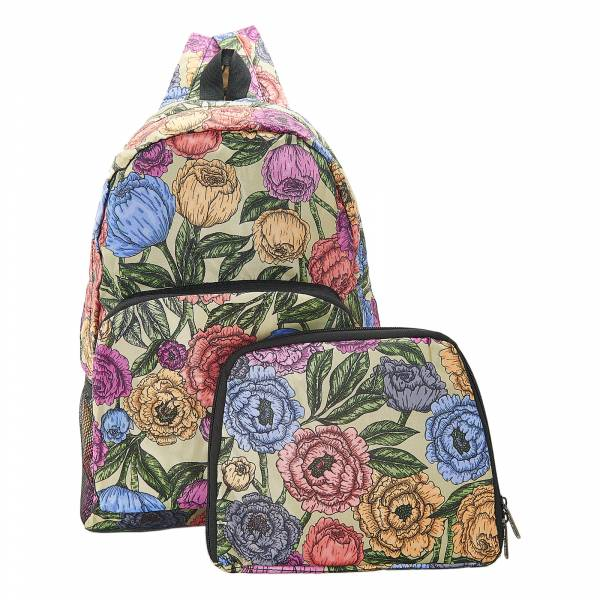 B11 Green Peonies Backpack x2