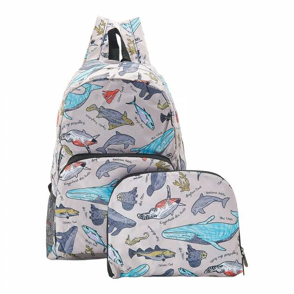 B12 Grey Sea Creatures Backpack x2