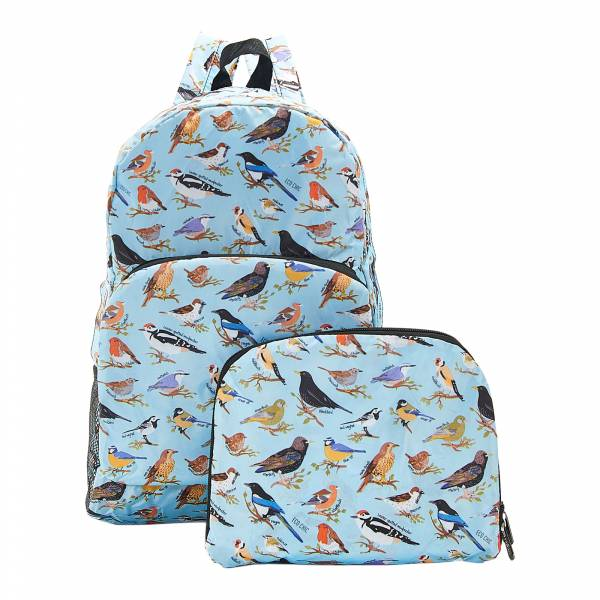 B16 Blue Wild Birds Backpack x2