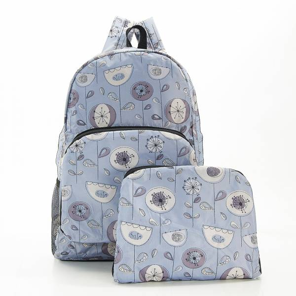 B17 Grey 1950's Flower Backpack x2