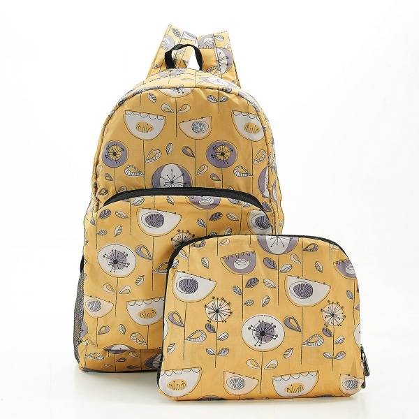 B17 Mustard 1950's Flower Backpackx2