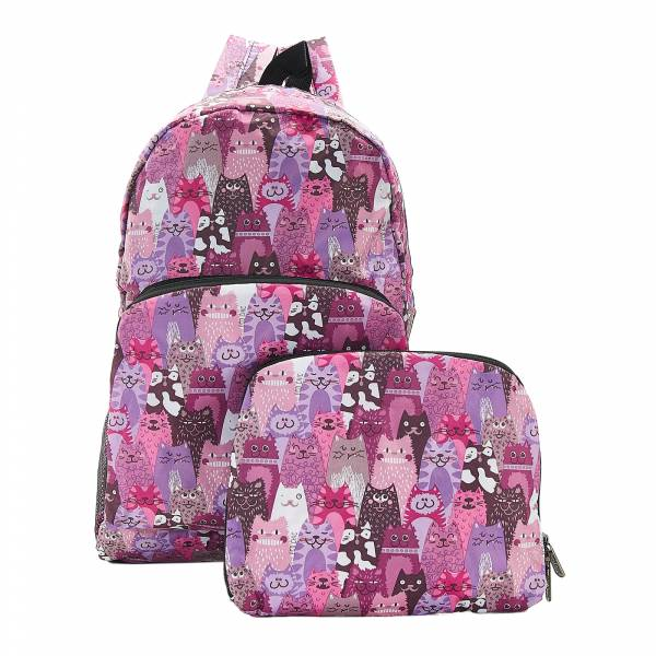 B18 Purple Stacking Cats Backpack x2