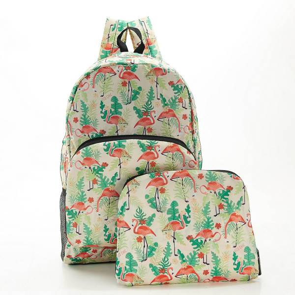 B19 Beige Flamingo Backpack x2