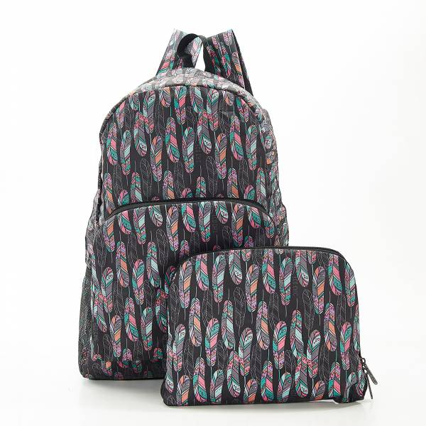 B21 Black Feather Backpack x2