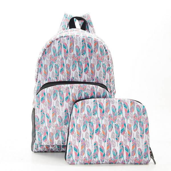 B21 White Feather Backpack x2