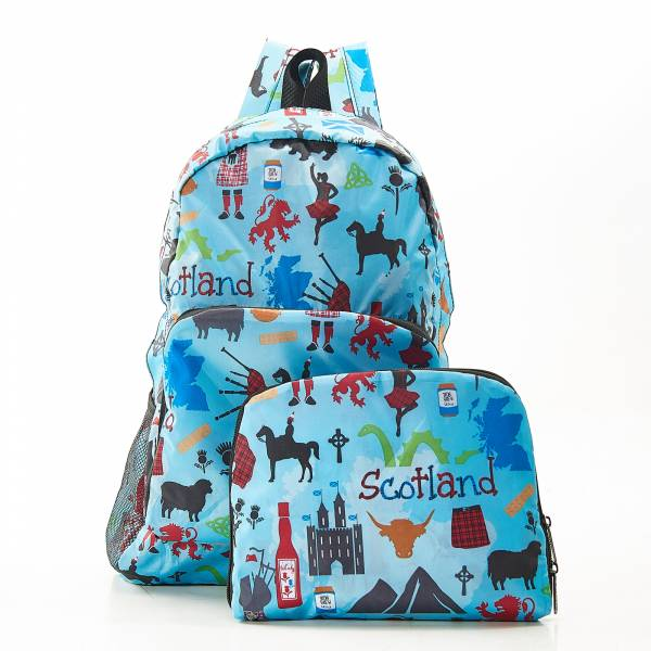 B22 Blue Scottish Montage Backpack x2