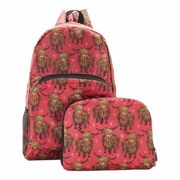 B24 Red Highland Cow Backpack x2