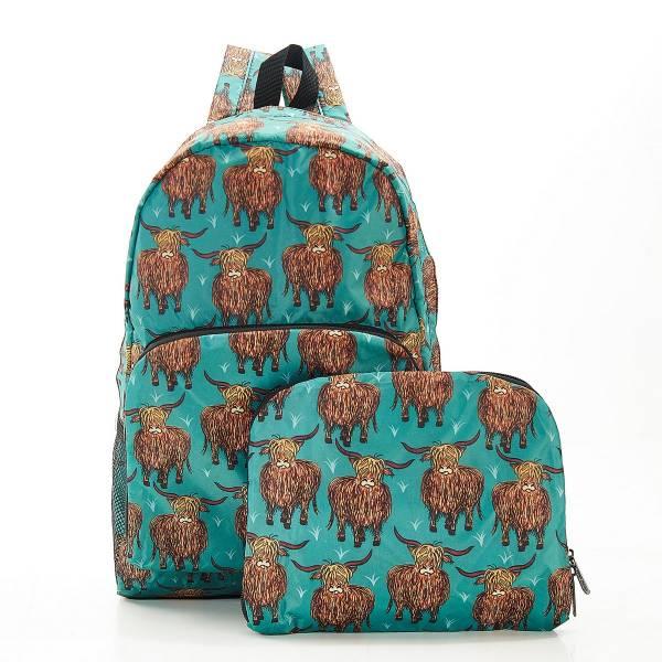 B24 Teal Highland Cow Backpack x2