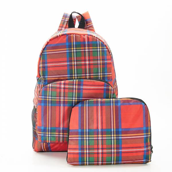 B31 Red Tartan Backpack x2