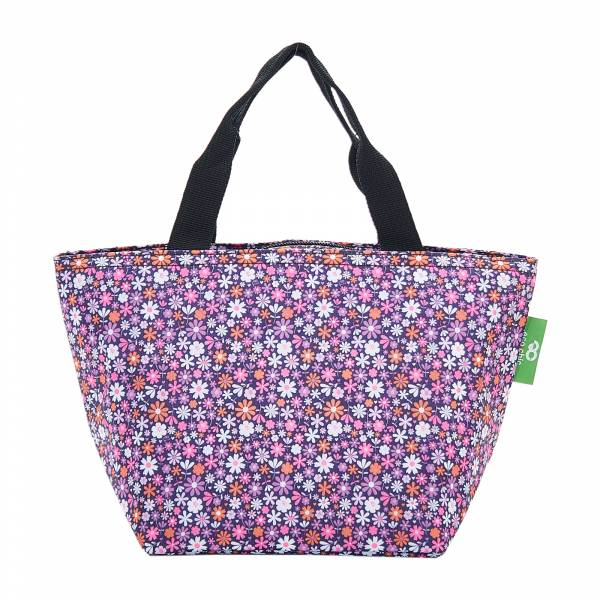C04 Purple Ditsy Lunch Bag x2