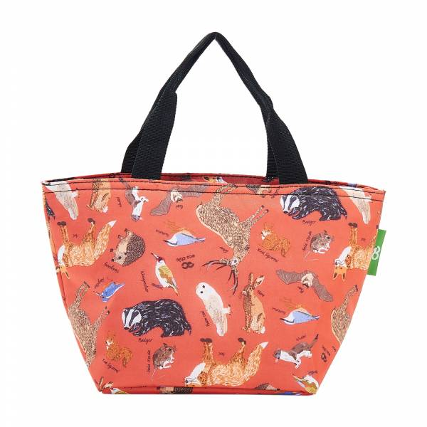 C06 Red Woodland Lunch Bag x2