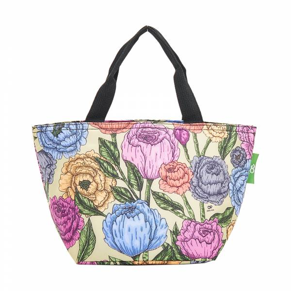 C11 Green Peonies Lunch Bag x2