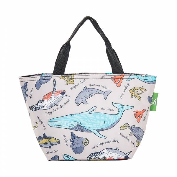 C12 Grey Sea Creatures Lunch Bag x2