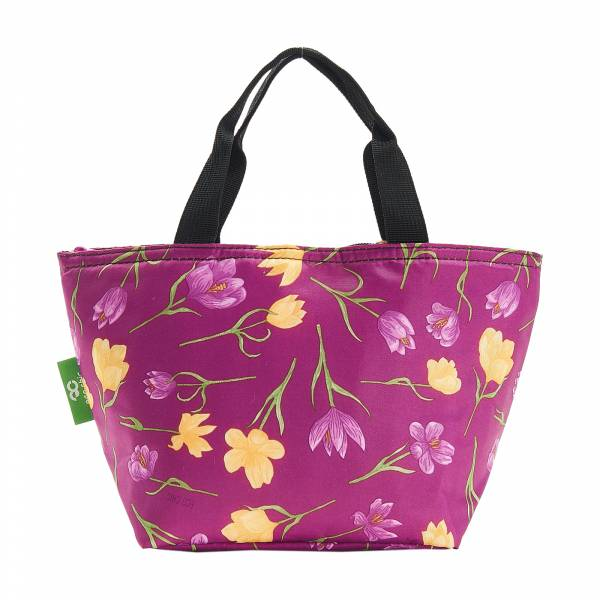 C14 Purple Crocus Lunch Bag x2