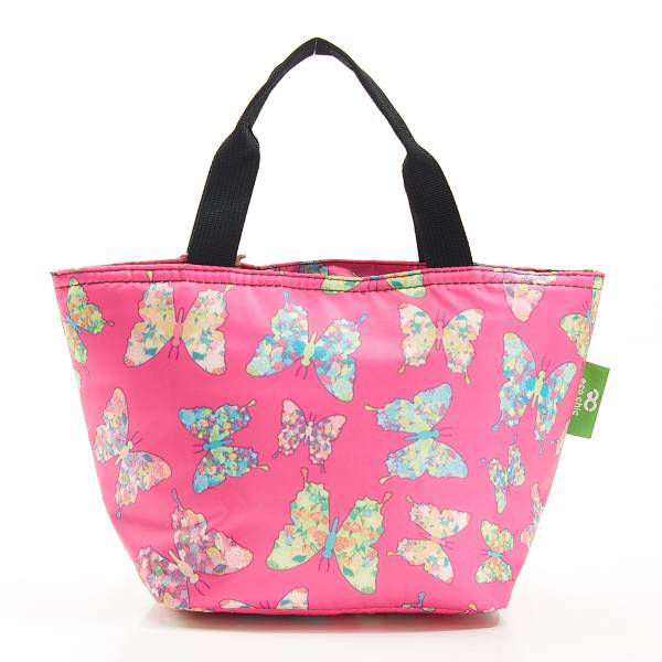 C15 Fuchsia Butterfly Lunch Bag X2