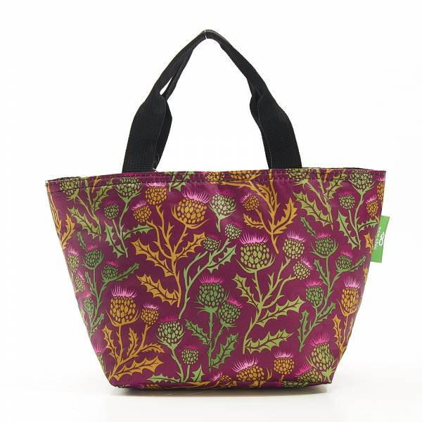 C16 Purple Thistle Lunch Bag x2