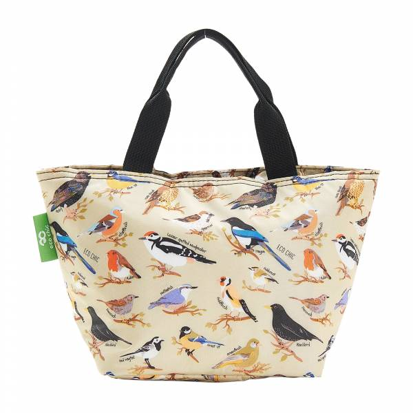 C17 Green Wild Birds Lunch Bag x2
