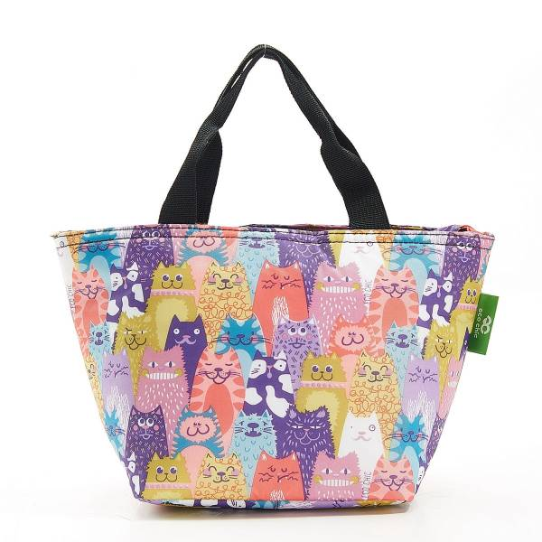 C19 Multiple Stacking Cats Lunch Bag x2
