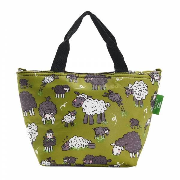 C27 Green Sheep Lunch Bag x2