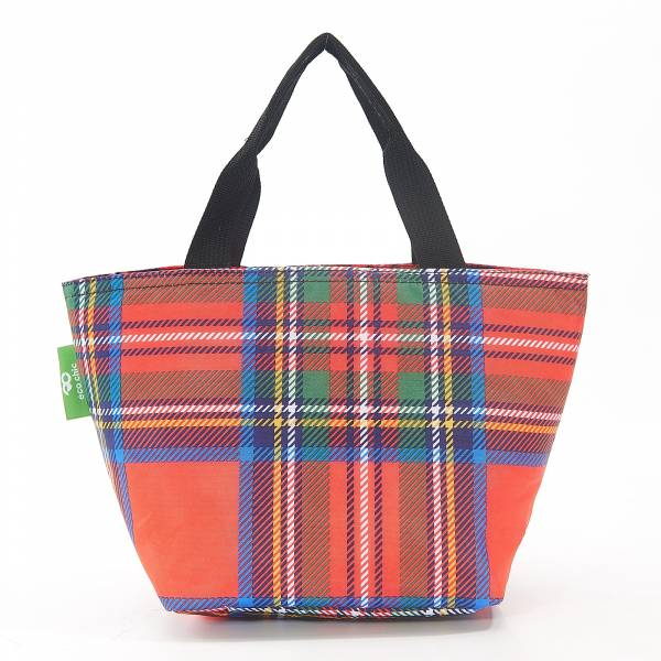 C30 Red Tartan Lunch Bag x2