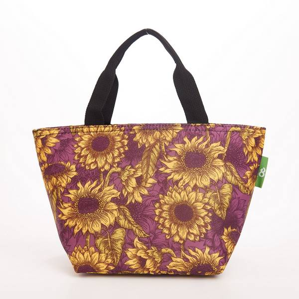 C33 Purple Sunflower Lunch Bag x2