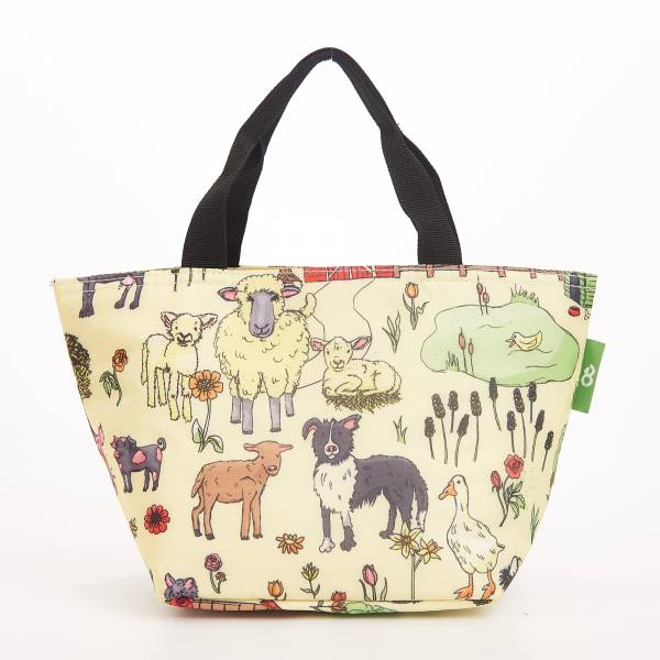 C34 Beige Farmland Lunch Bag x2