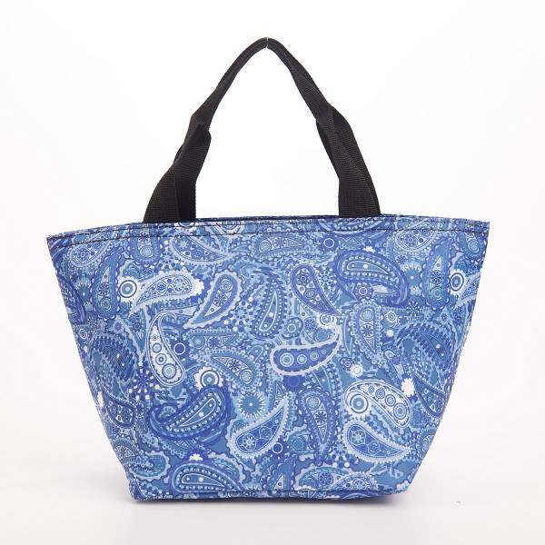 C35 Blue Paisley Lunch Bag x2