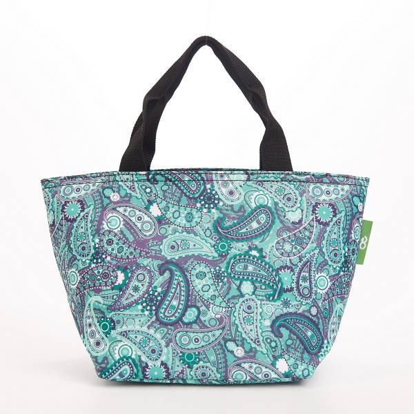 C35 Green Paisley Lunch Bag x2