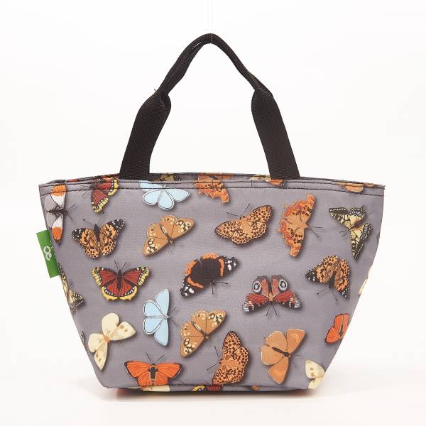 C37 Grey Wild Butterflies Lunch Bag x2