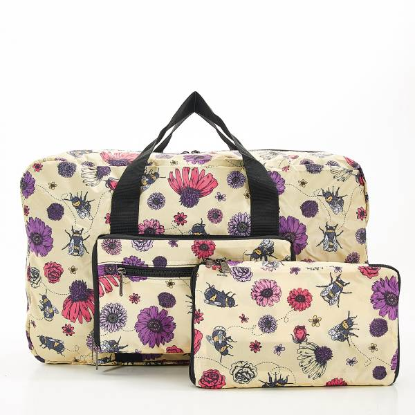 D02 Beige Bee2 Holdall x2
