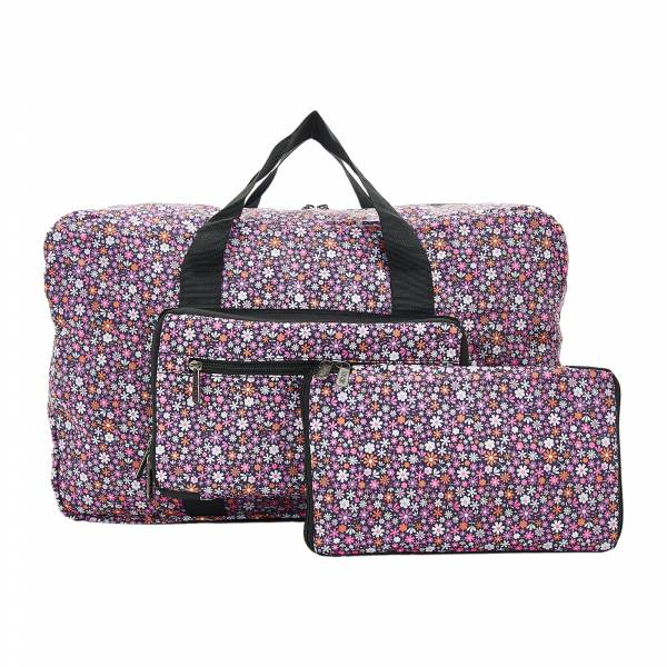 D04 Purple Ditsy Holdall x2