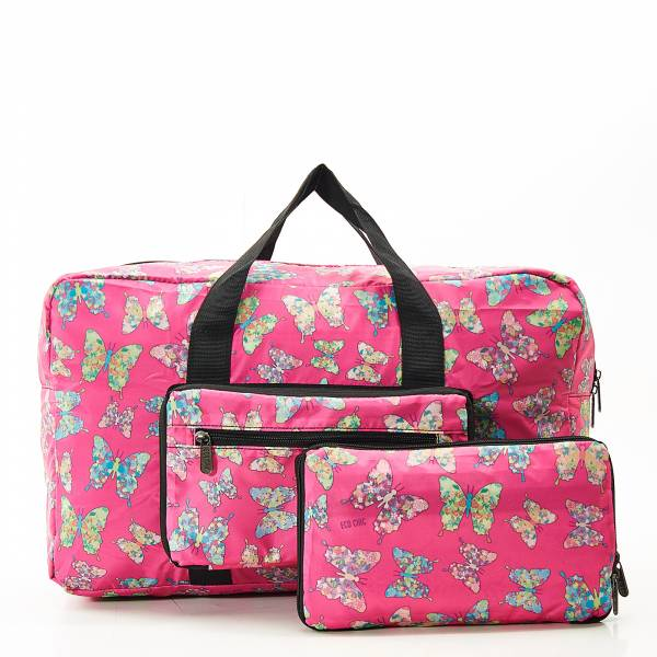 D14 Fuchsia Butterfly Holdall X2