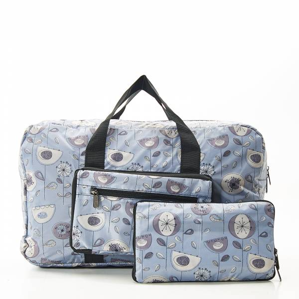 D17 Grey 1950's Flower Holdall x2