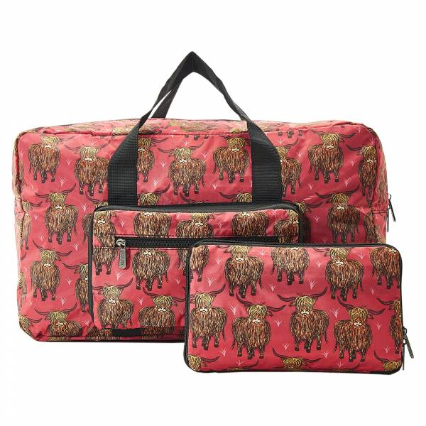 D20 Red Highland Cow Holdall x2