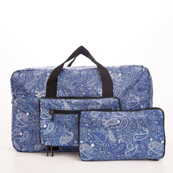D31 Blue Paisley Holdall x2