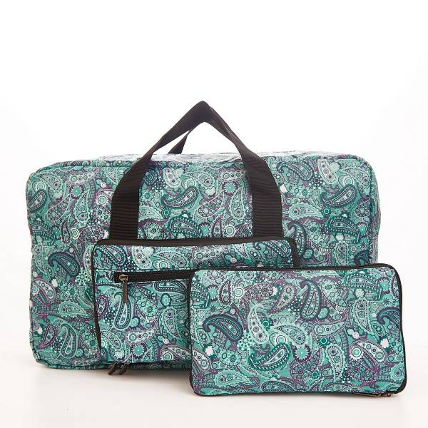 D31 Green Paisley Holdall x2
