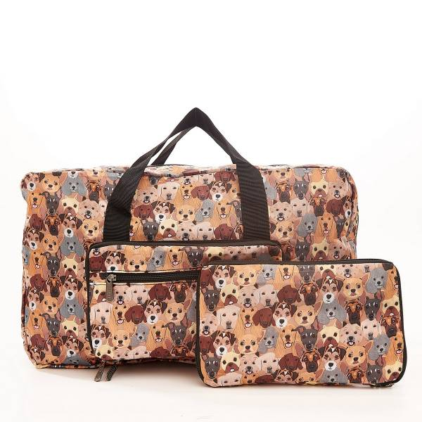 D32 Beige Stacking Dogs Holdall x2