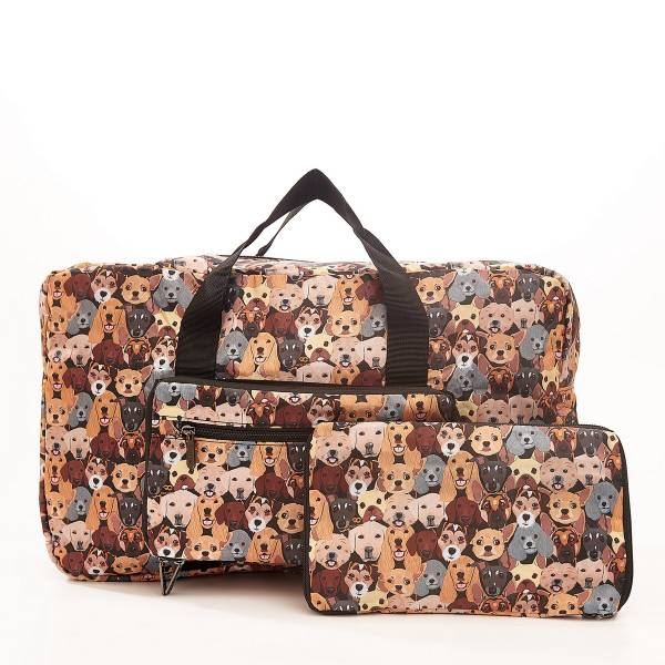D32 Black Stacking Dogs Holdall x2