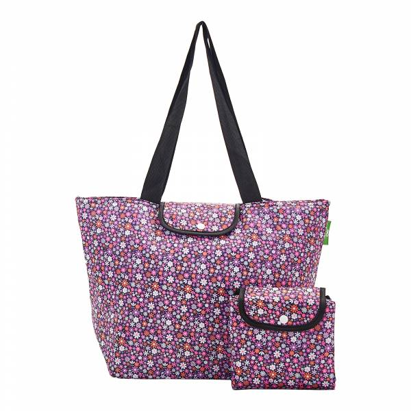 E01 Purple Ditsy Large Cool Bag x2
