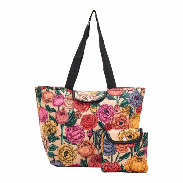 E06 Beige Peonies Large Cool Bag x2