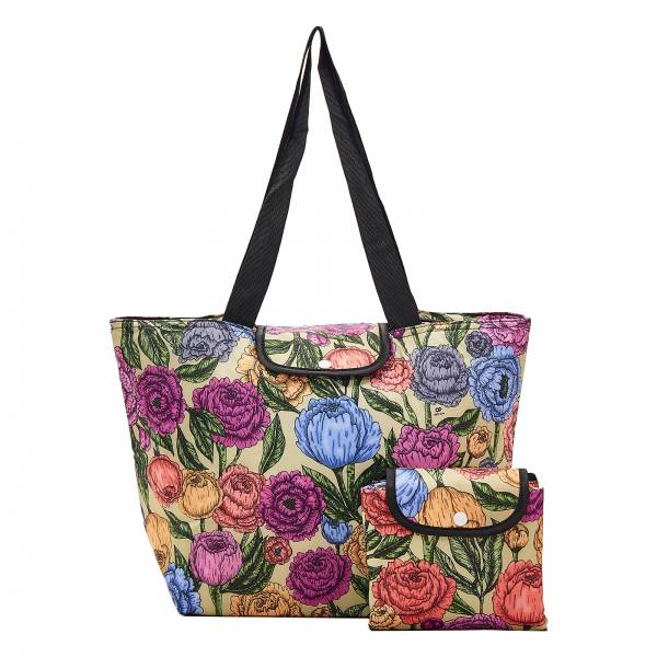 E06 Green Peonies Large Cool Bag x2