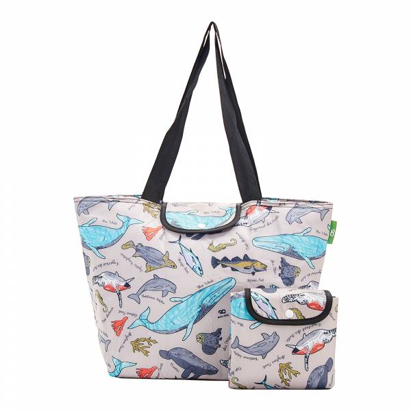 E07 Grey Sea Creatures Large Cool Bag x2