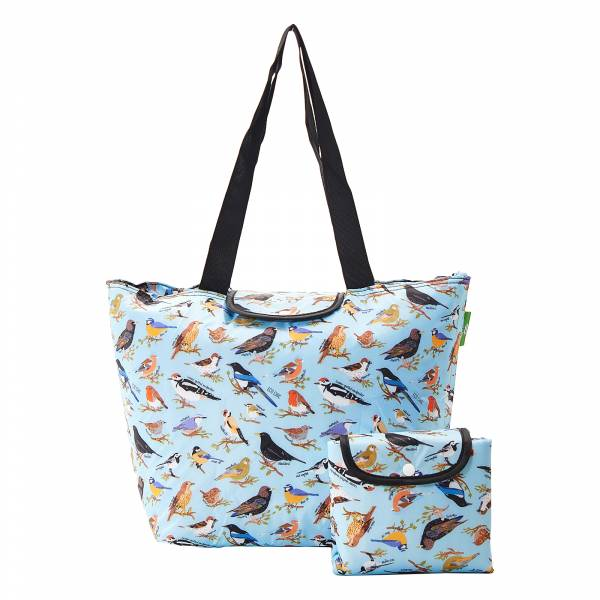E08 Blue Wild Birds Large Cool Bag x2