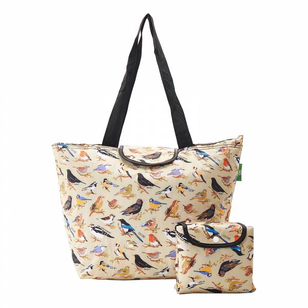 E08 Green Wild Birds Large Cool Bag x2