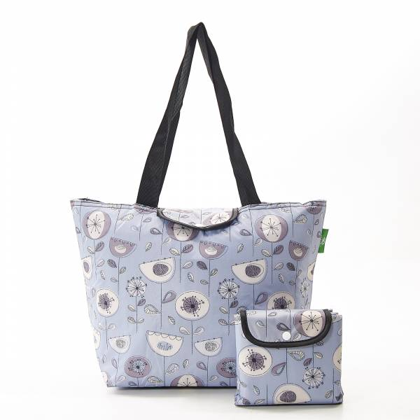E09 Grey 1950's Flower Large Cool Bag x2